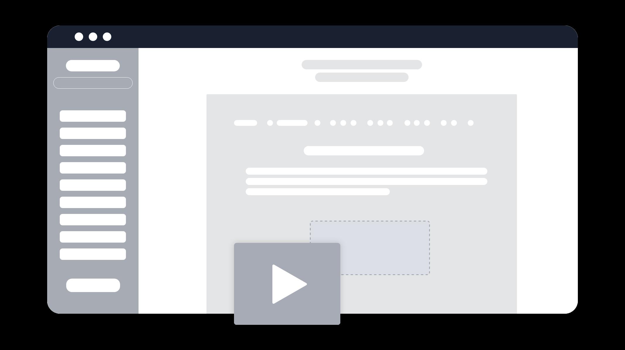 Unser Content Editor minimalisiert dargestellt