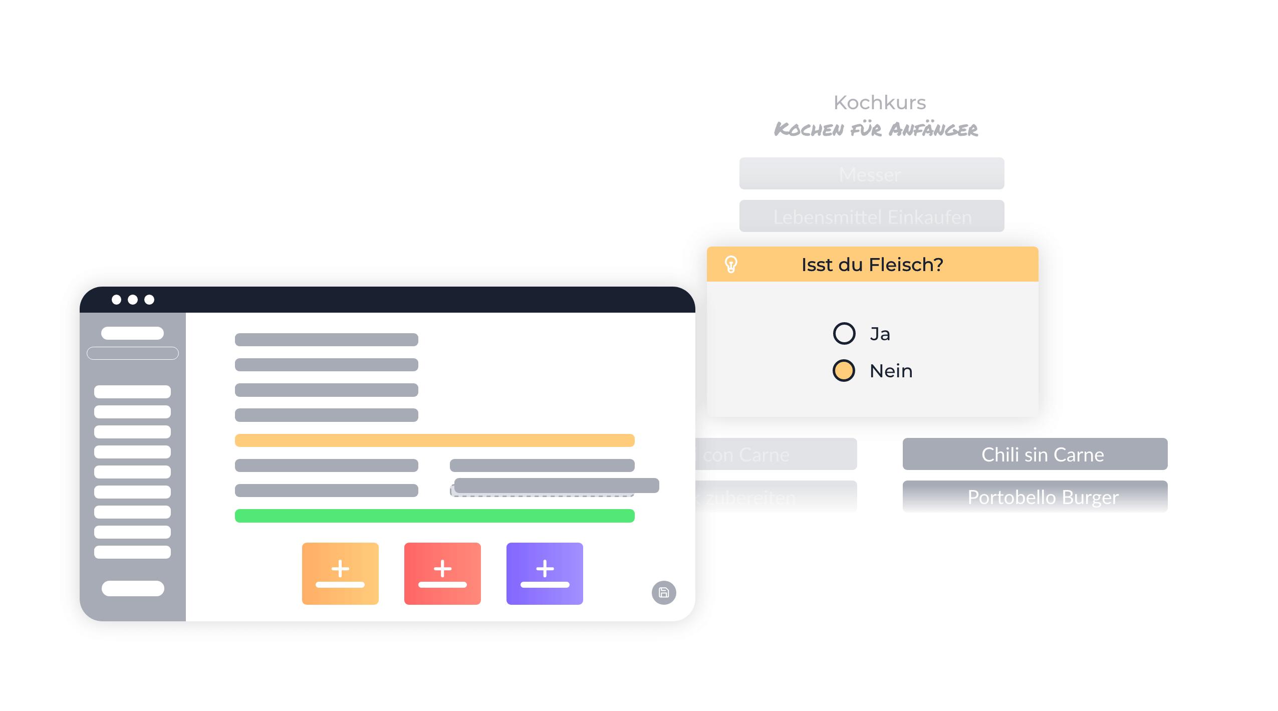 Lernpfade minimalisiert dargestellt